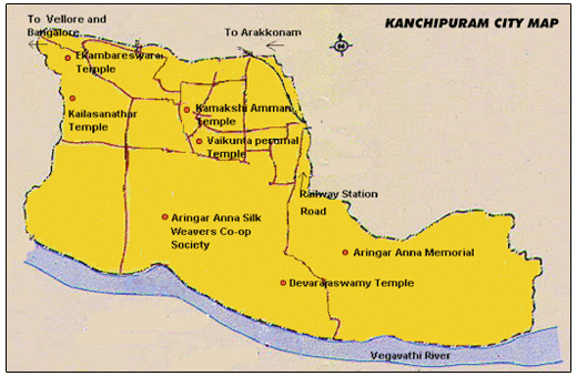 Kanchipuram Map